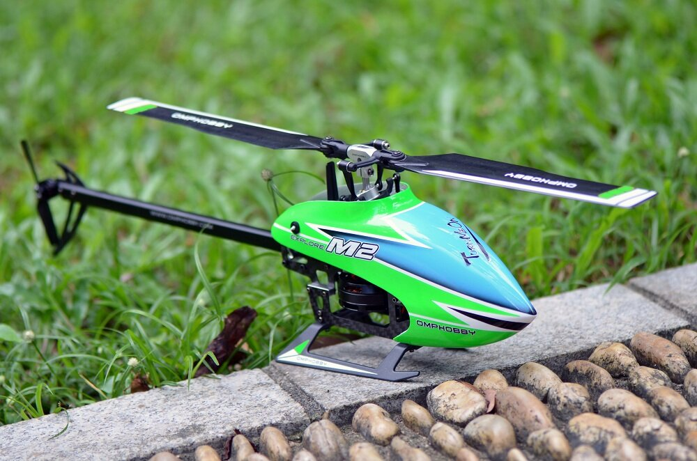 OMPHOBBY M2 EXP 6CH 3D Flybarless Dual Brushless Motor Direct Drive RC Helicopter BNF with Open Flight Controller - 10