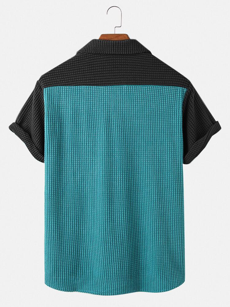 Banggood Design Mens Vintage Corduroy Big Chest Pocket Solid Color Long Sleeve Shirts Jackets - 4
