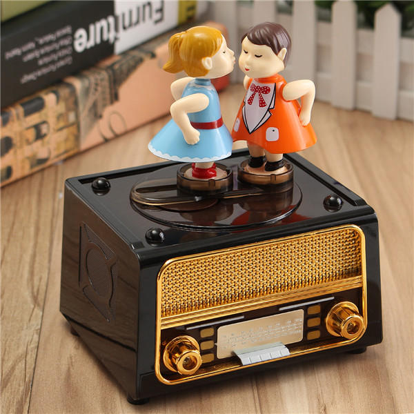 PlastiC Classic Music Box Retro style Cute Kids for Kids Toys Gift - 5