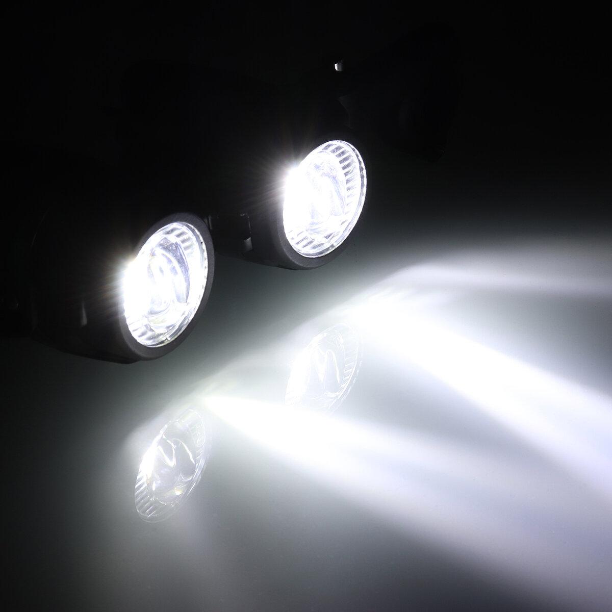 Universal Motorcycle Angel Eye LED Headlight Running Light Hi / Lo Beam - 5