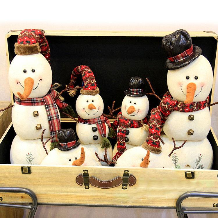 Muñeco de muñecas de muñeco de nieve de Navidad 2017 Adorno Mesa Decoración de escritorio Regalos de Navidad para niños - 3