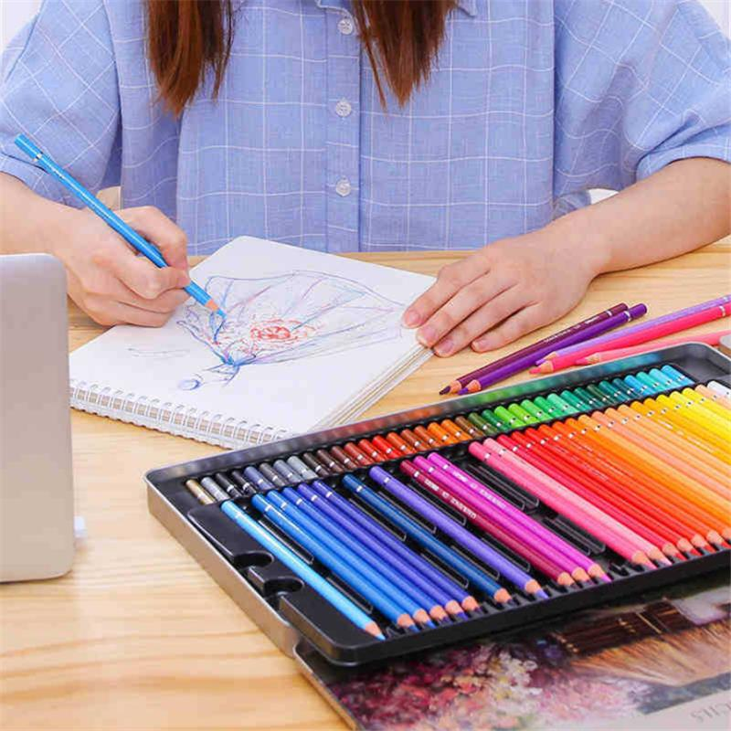 QiLi QL-C120 120 Colors Wood Colored Pencils Artist Painting Oil Color Pencil For School Drawing Sketch Drawing Art Supplies Stationery - 5