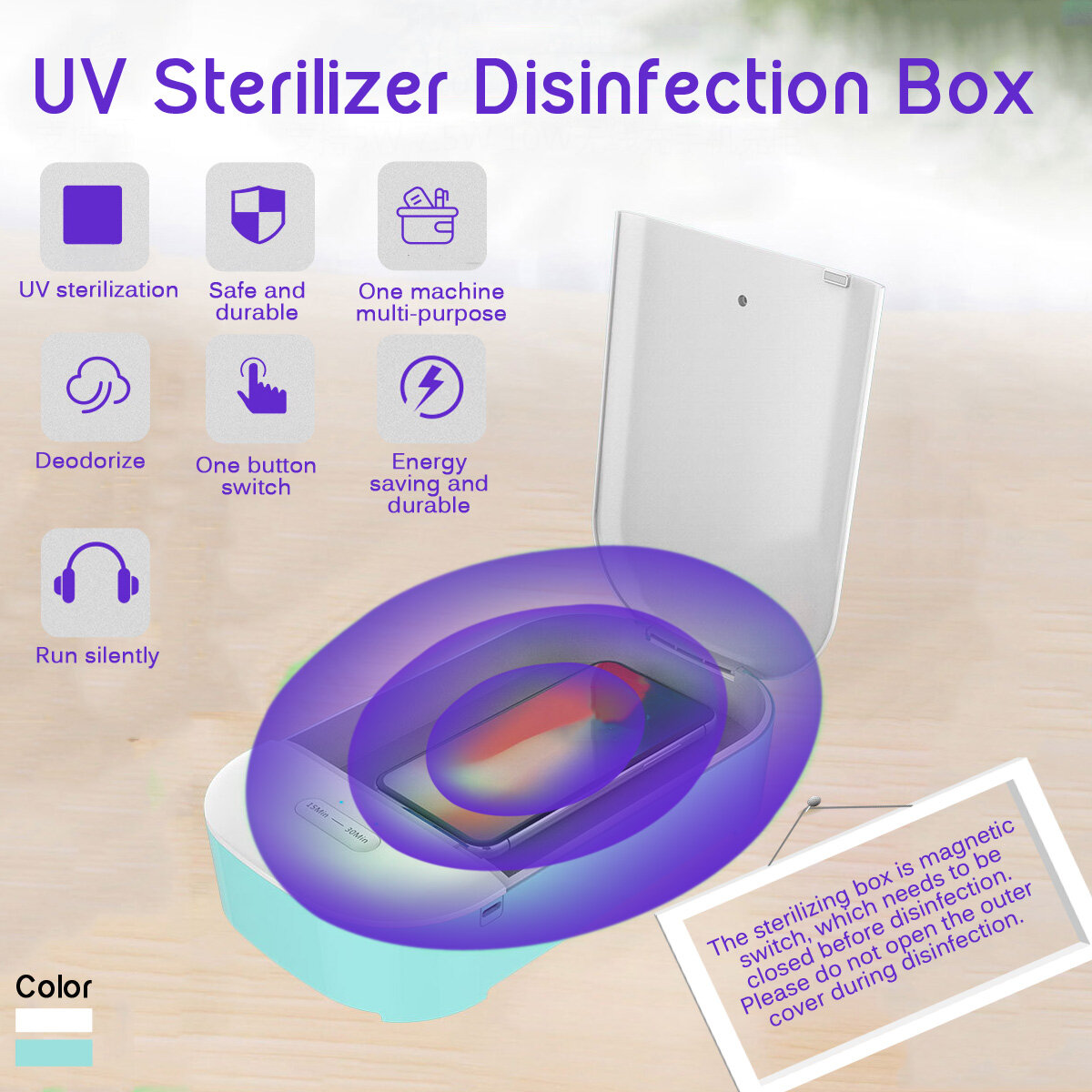 Ultraviolet Disinfection Box Mobile Phone Sterilizer Large Space Capacity Underwear Panties Flat UV Sterilizer - 1