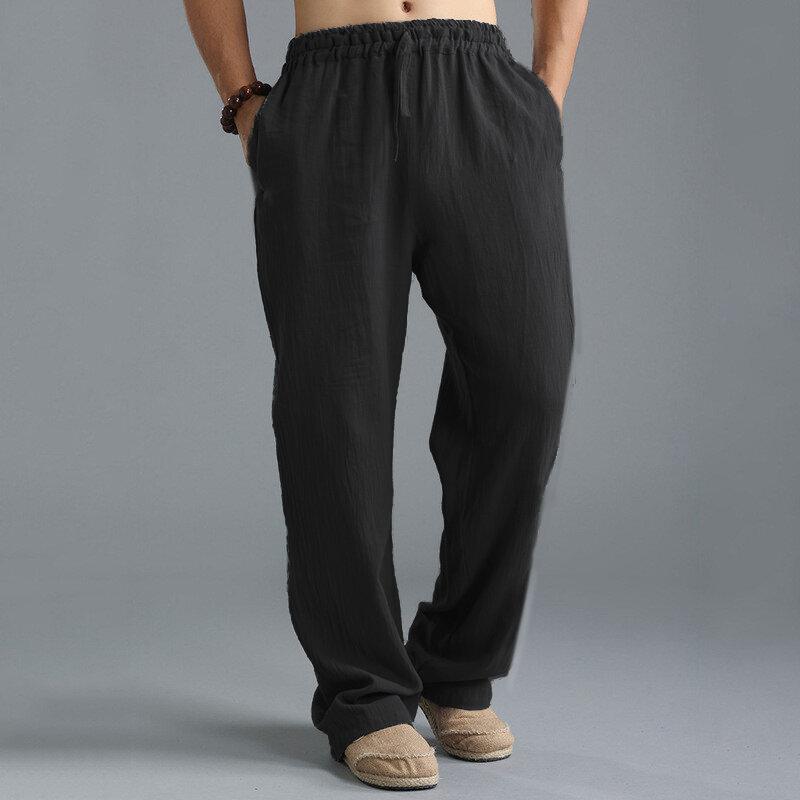 Mens Harem Pants Baggy Slacks Trousers Sportwear Casual Jogger Pants - 2