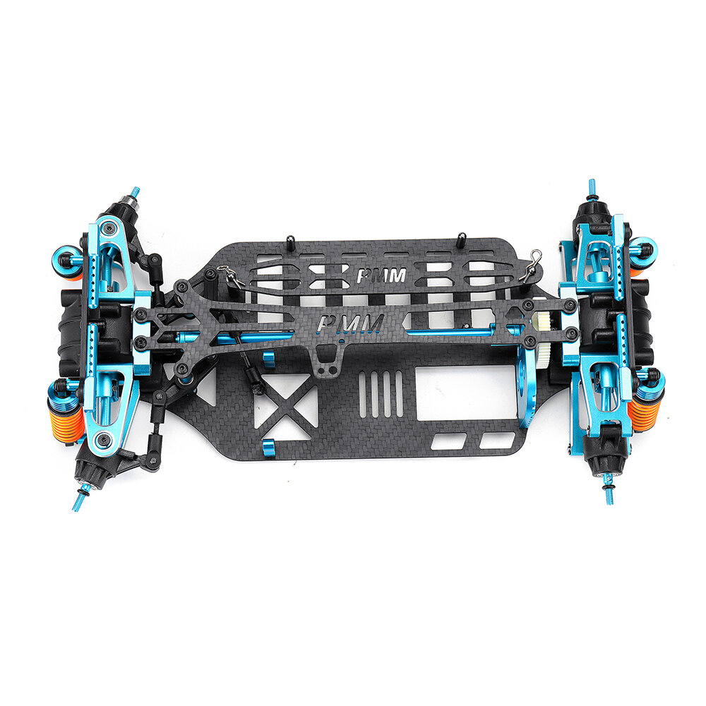 CNC Aluminum Metal Carbon Frame Body for 1/10 Crawler AXIAL SCX10 Rc Car Chassis 313mm Wheelbase - 2