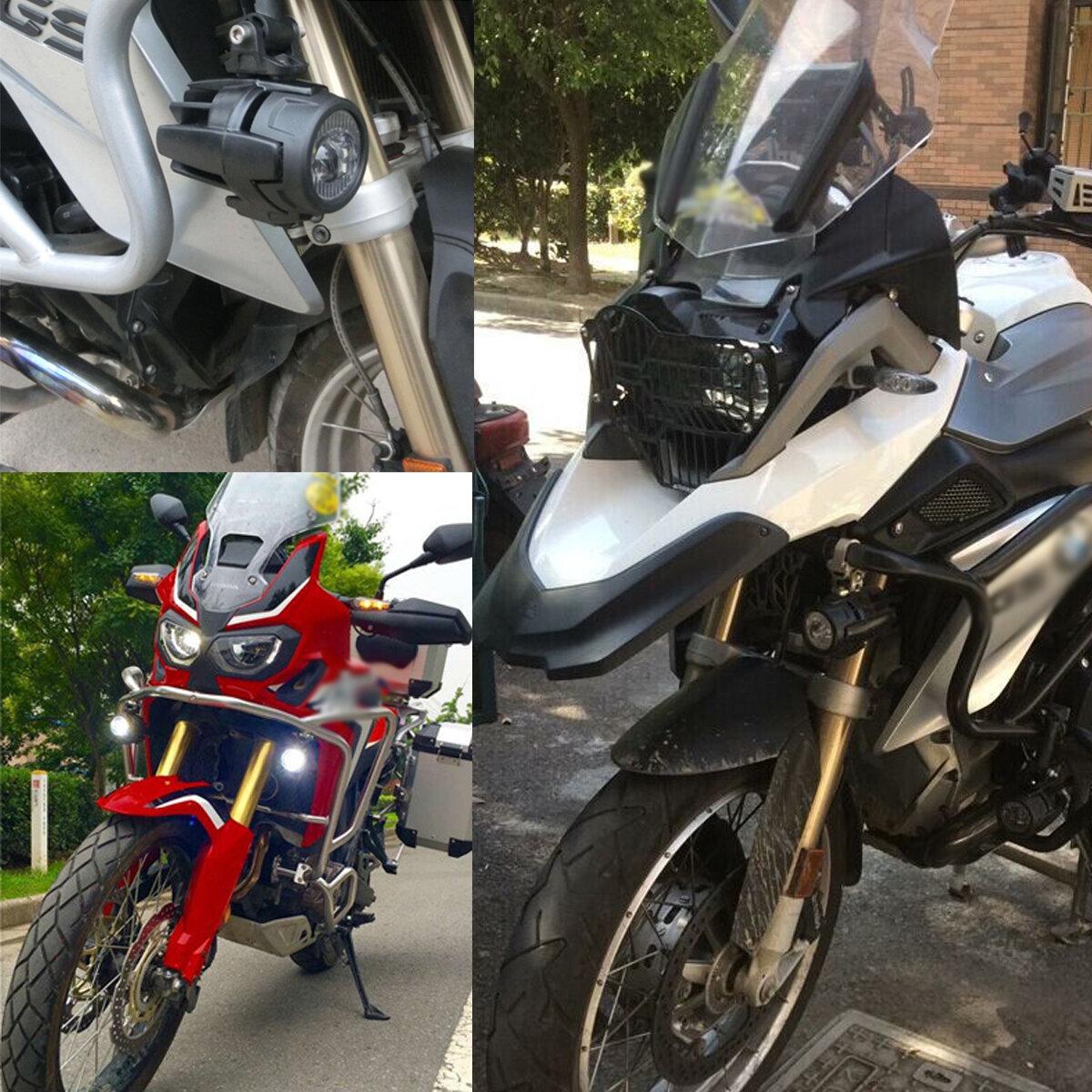 Universal Motorcycle Angel Eye LED Headlight Running Light Hi / Lo Beam - 4