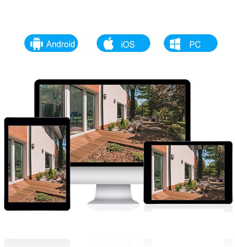 GUUDGO 10 LED lamp HD 1080P WIFI IP camera Bidirectionele audio Draadloze camera H.264 PTZ Auto tracking Nachtzichtcamera - 8