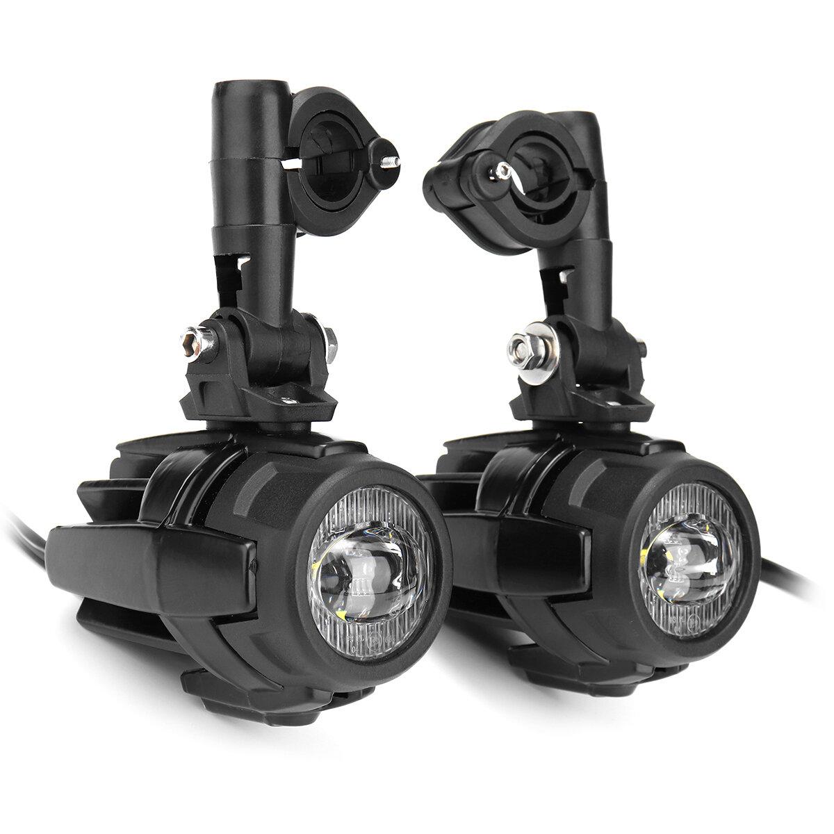 Universal Motorcycle Angel Eye LED Headlight Running Light Hi / Lo Beam - 7