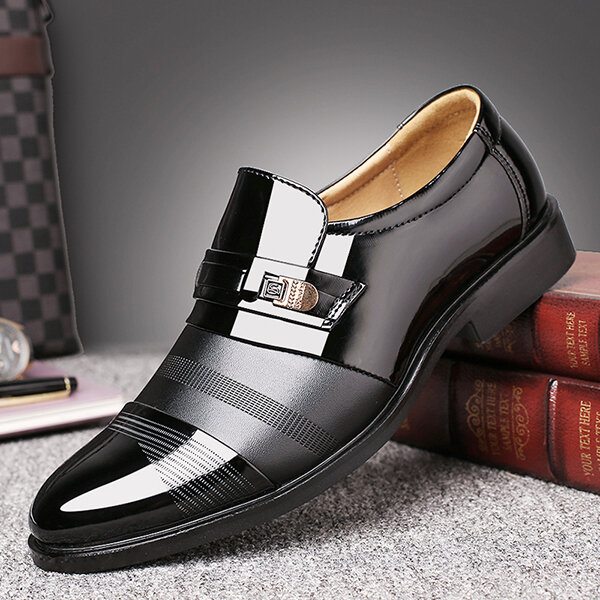Men Genuine Leather Spicing Business Casual Soft Oxfords - 1