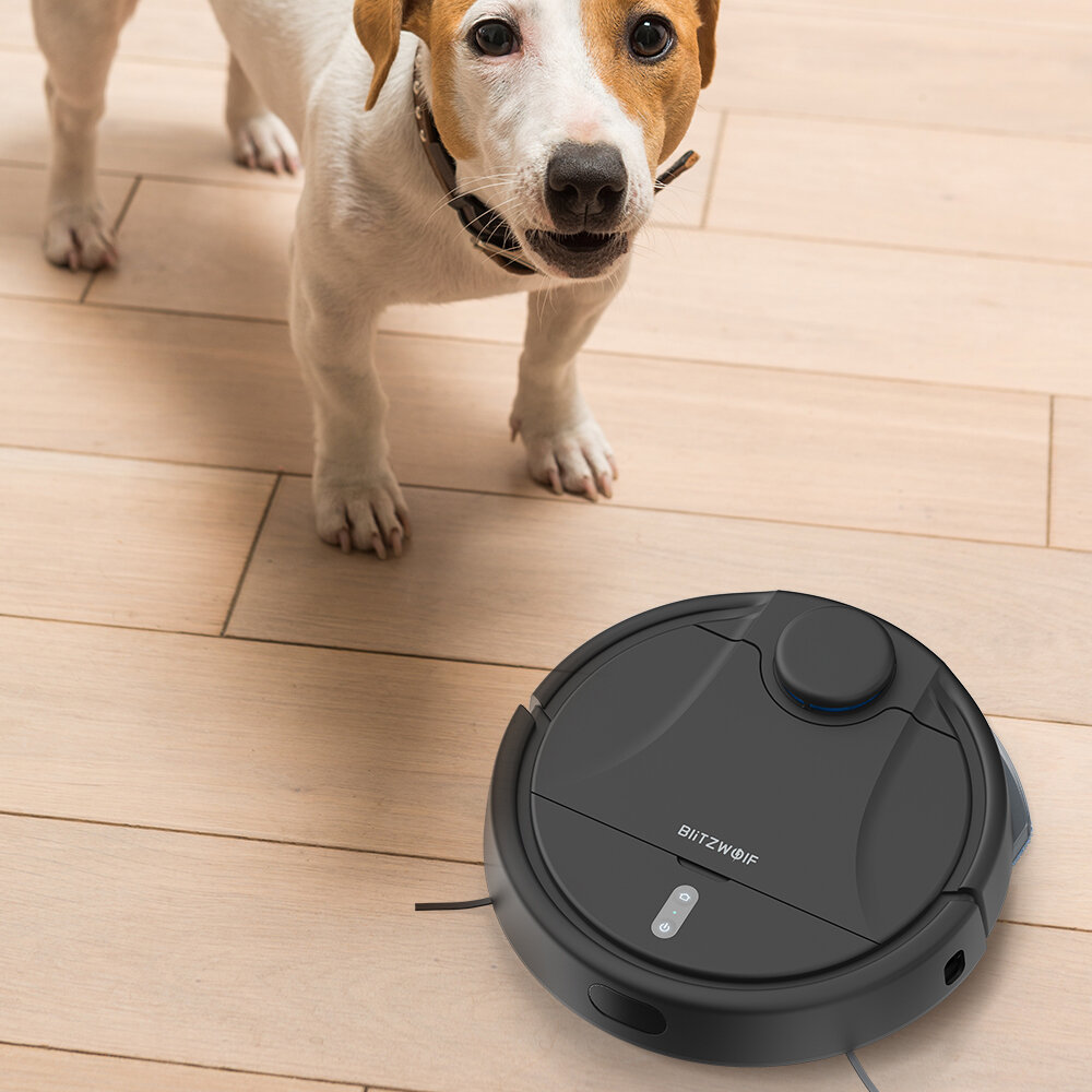 BlitzWolf® BW-VC2 Smart Robot Vacuum Cleaner with 380mL Dust & 100mL Water Tank, 2200Pa Strong Suction, Works with Alexa, 360°Laser Radar, 9 Sensors and APP Control - 10
