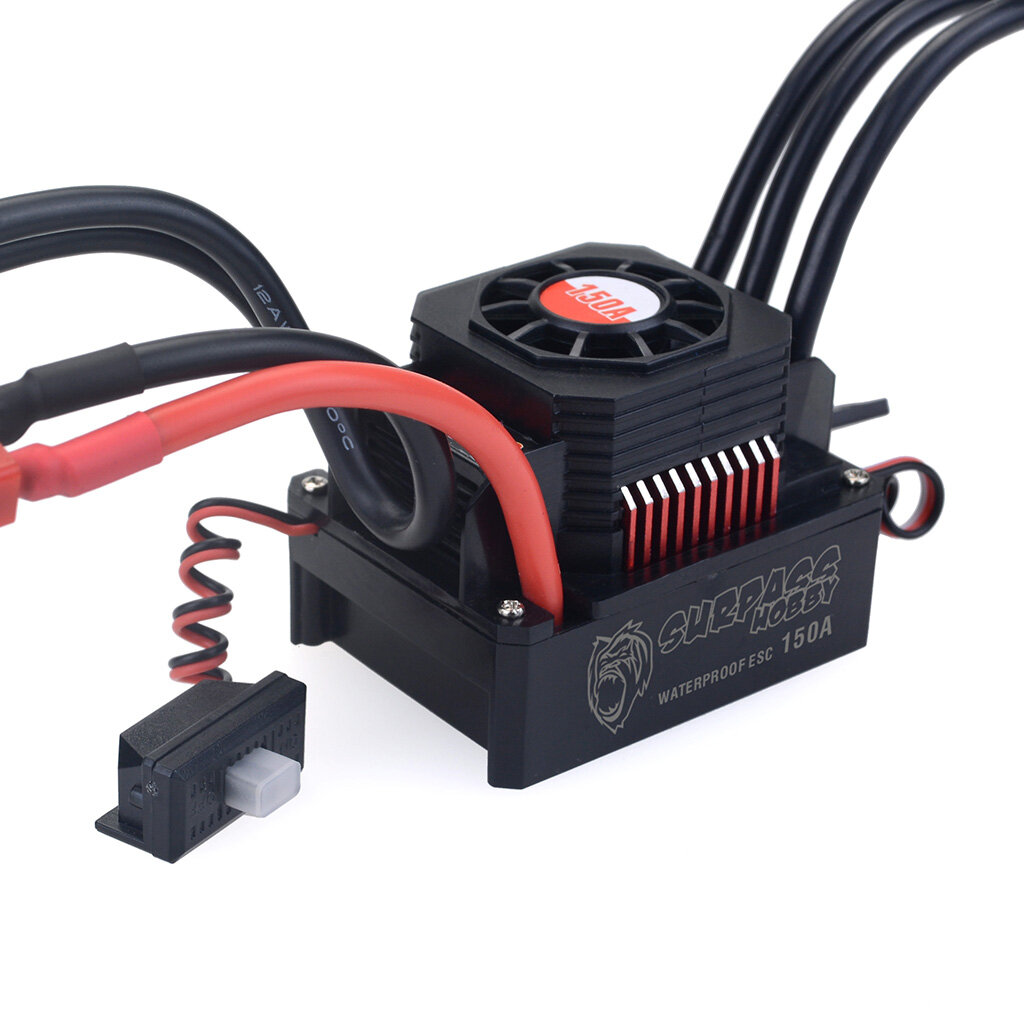 Surpass Hobby Waterproof F540 V2 Sensorless Brushless Motor with 60A ESC for 1/10 RC Vehicles - 2