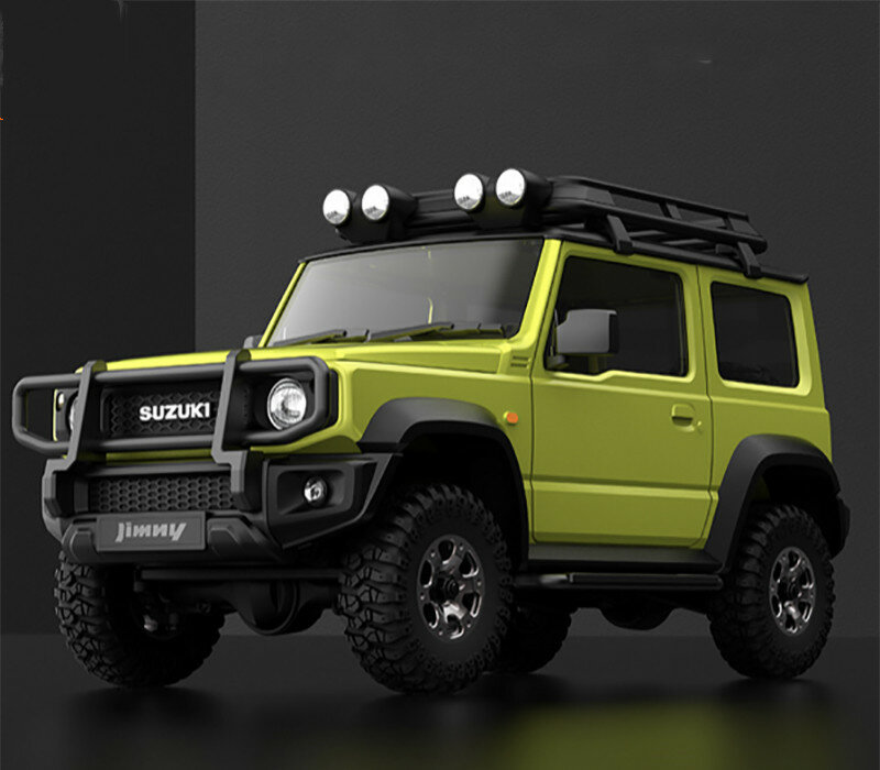 MN90 1/12 2.4G 4WD Rc Car W/ Front LED Light 2 Body Shell Roof Rack Crawler Off-Road Truck RTR Toy - 1