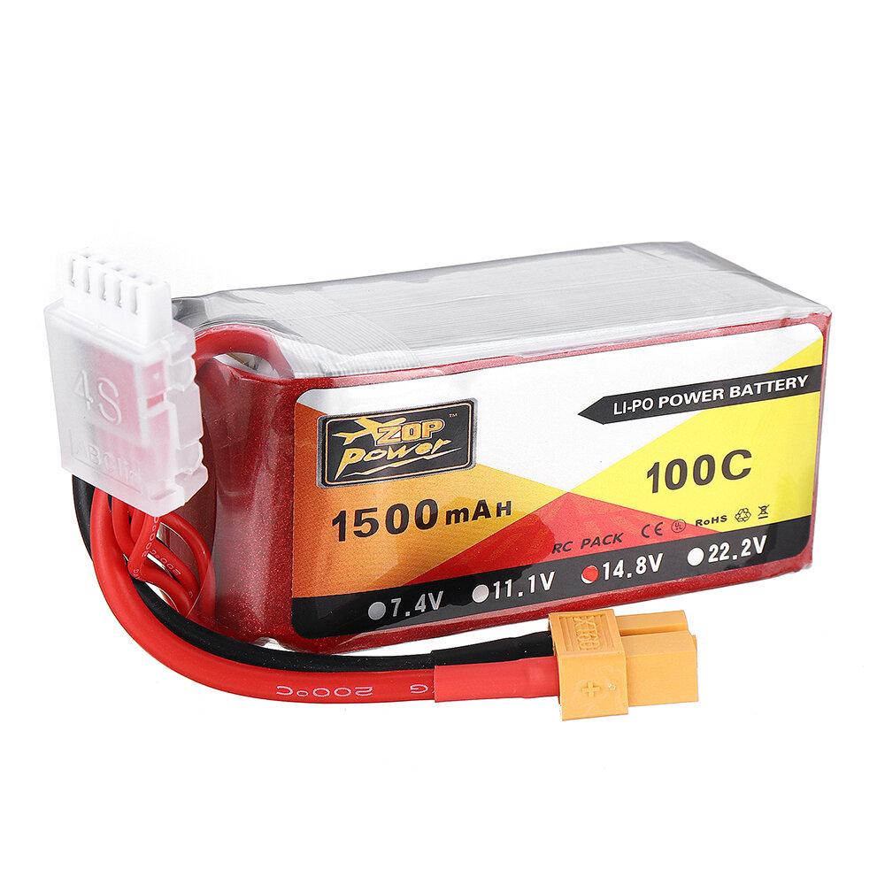 ZOP POWER 14.8V 1500mAH 100C 4S Lipo Batería Con enchufe XT60 para Eachine Wizard X220S FPV Racer RC Drone - 2