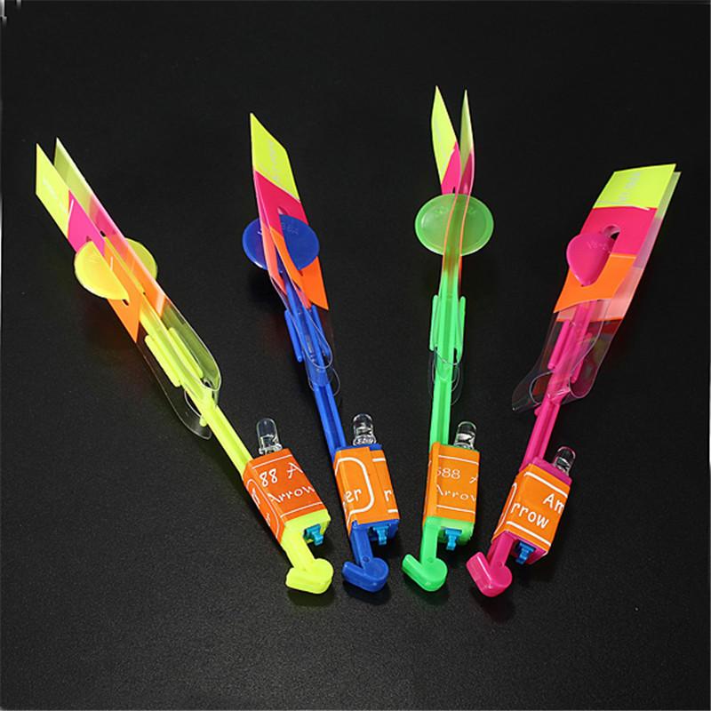 Erstaunlich Blitz LED Licht Pfeil Raketen Hubschrauber Drehen Fliegen Spielzeug Party Spaß Kinder Outdoor Spielzeug - 7