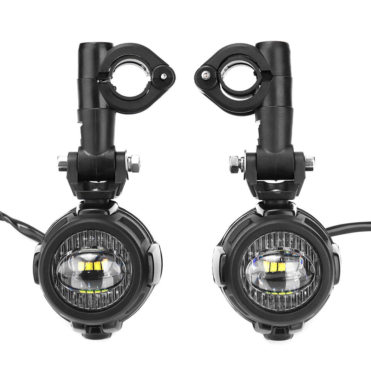Universal Motorcycle Angel Eye LED Headlight Running Light Hi / Lo Beam - 3