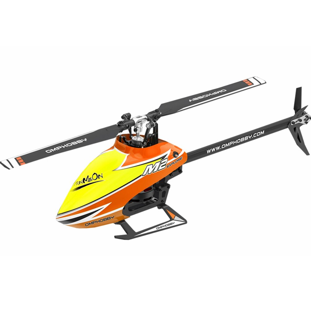OMPHOBBY M2 EXP 6CH 3D Flybarless Dual Brushless Motor Direct Drive RC Helicopter BNF with Open Flight Controller - 3