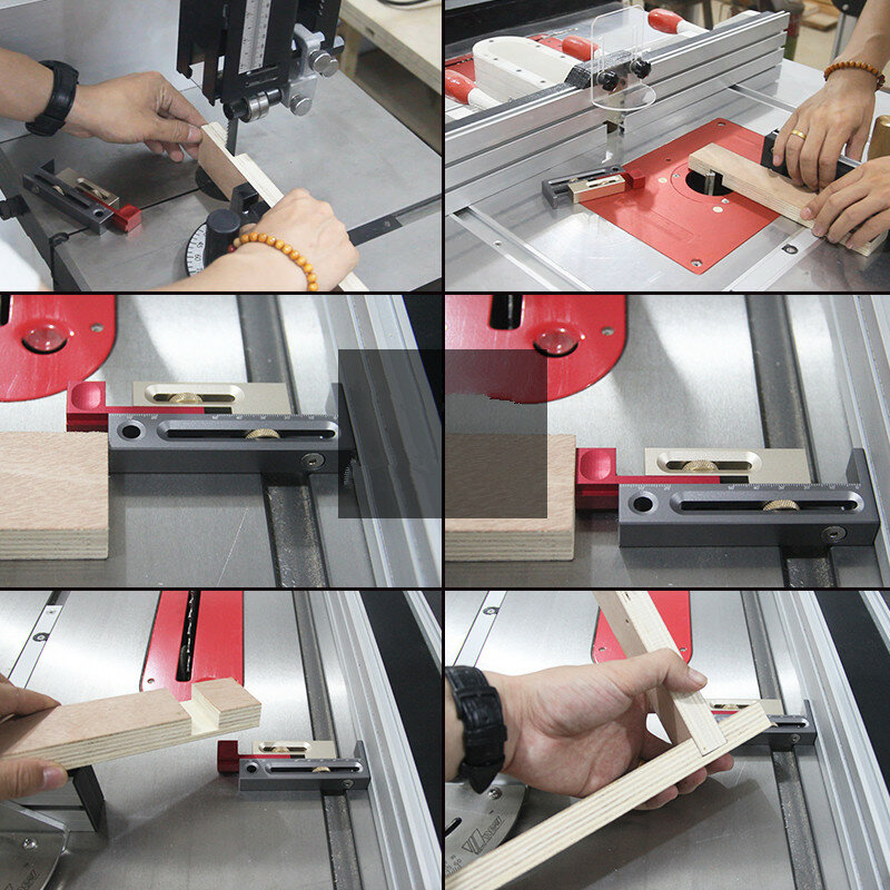Drillpro 450mm Woodworking Precision Miter Gauge And Box Joint Jig Kit for Table Saw Router - 10