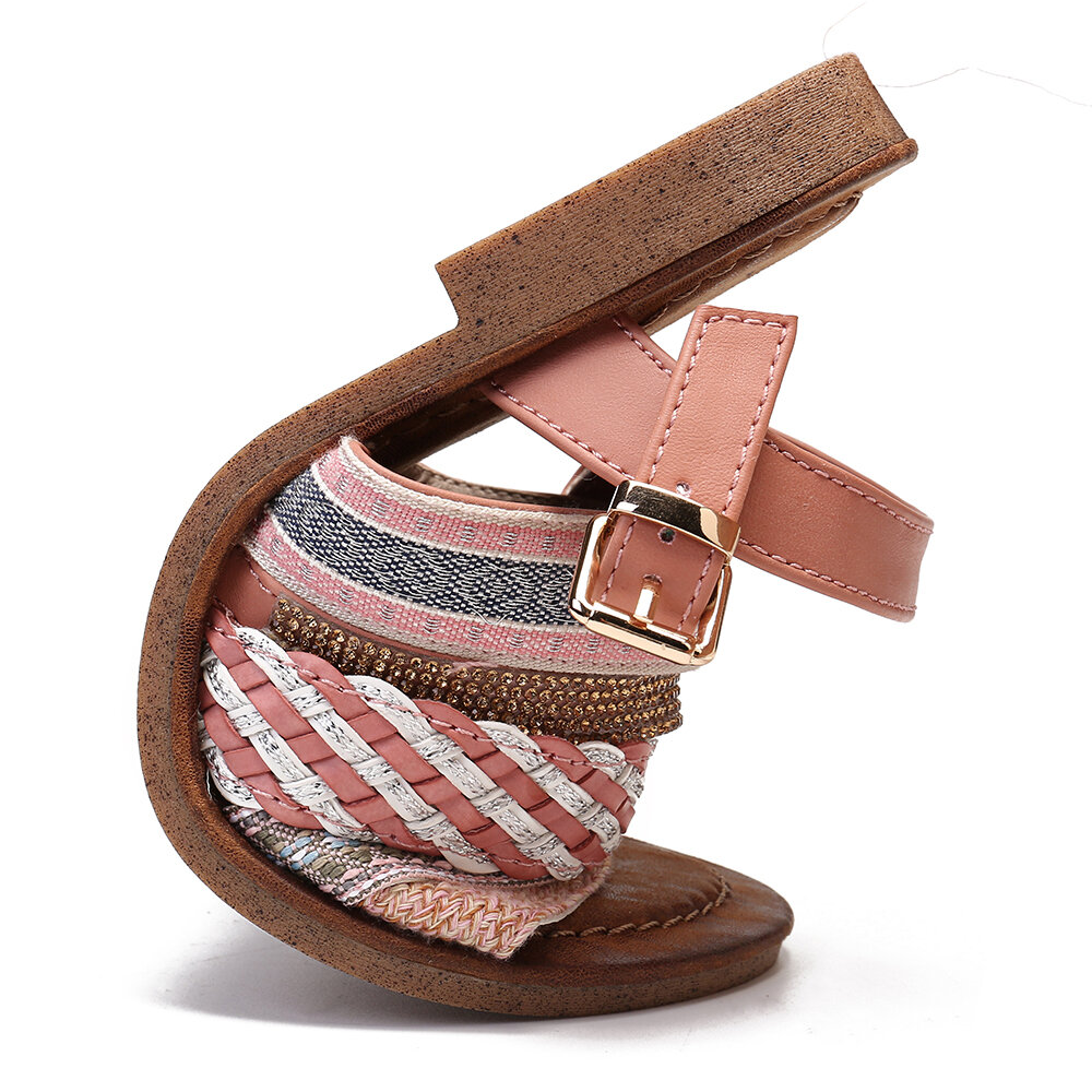 Women Strappy Lace Up Fashion Summer Beach Causal Sandals - 7