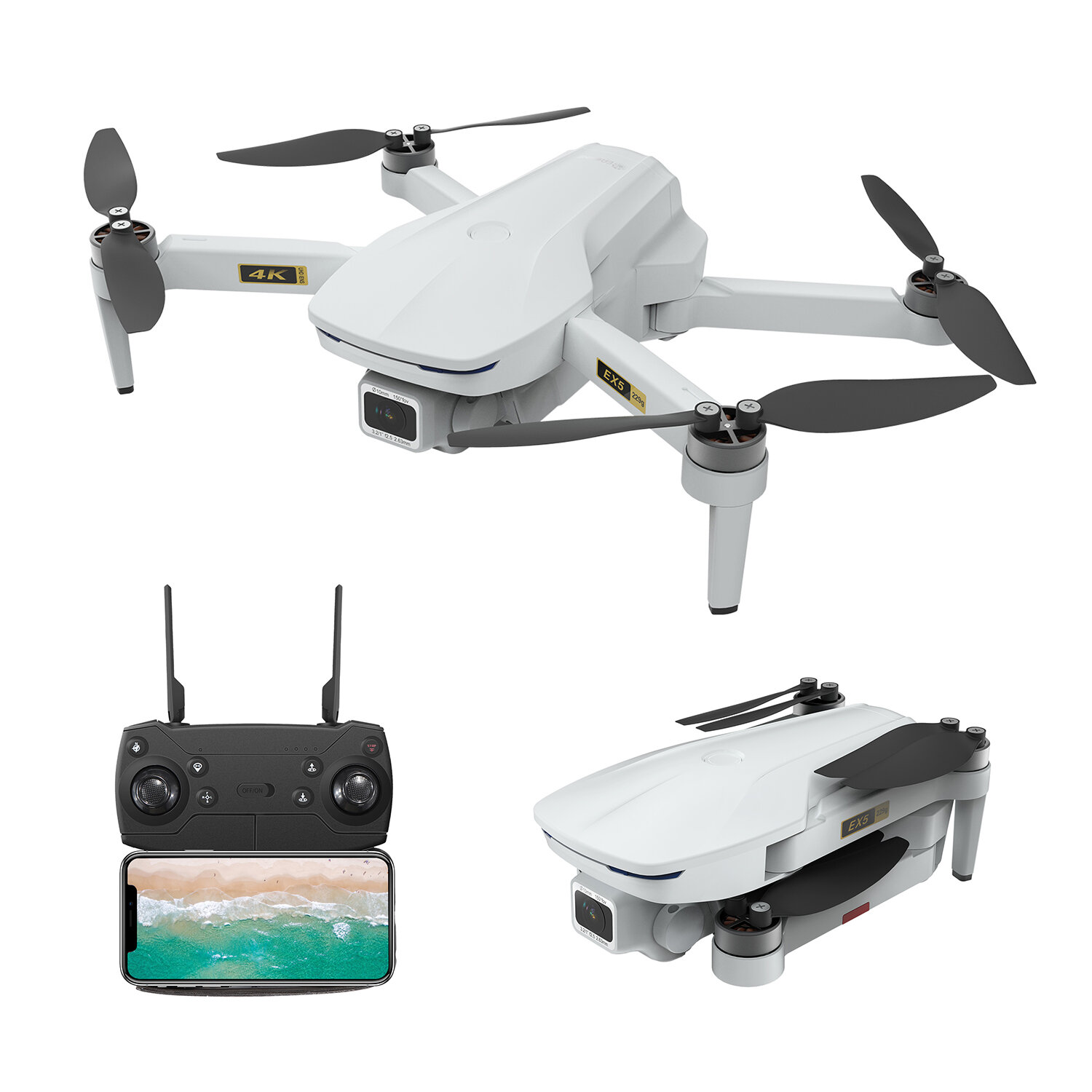 ZLRC SG107 HD Aerial Folding Drone With Switchable 4K Optical Flow Dual Cameras 50X Zoom RC Quadcopter RTF - 1