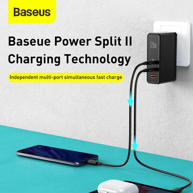 BlitzWolf® BW-S16 75W 6-Port USB PD Charger Desktop Charging Station AU Plug Adapter With Baseus 100W 5A Zinc Magnetic USB-C to USB-C PD3.0 Cable For iPhone 11 SE 2020 For iPad Pro 2020 MacBook Air 2020 For Samsung Galaxy S20 - 8