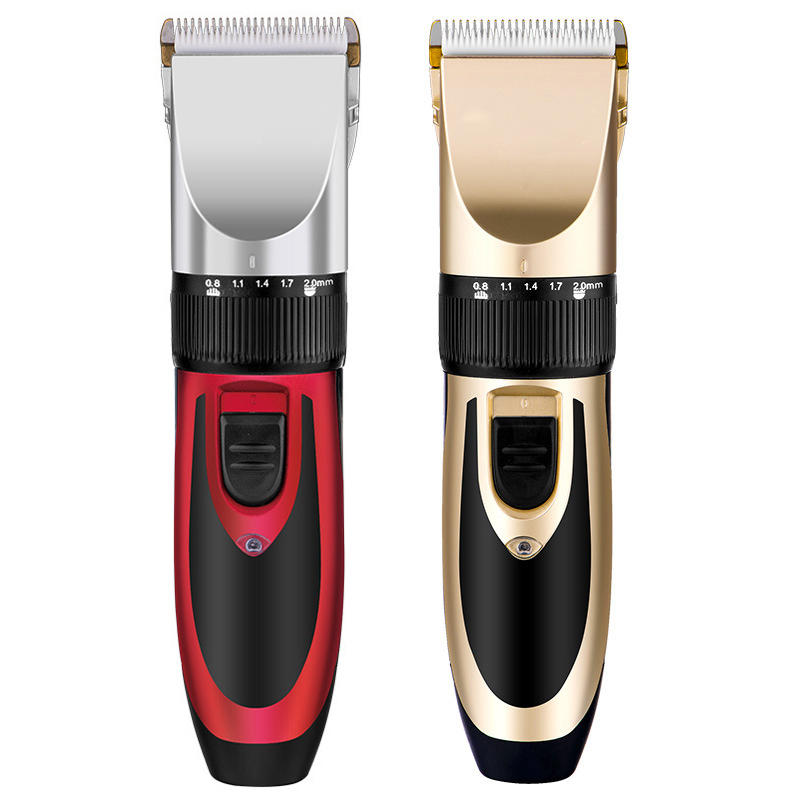 Hair Clippers for Men,Hizek Beard Trimmer Professional Cordless Hair Trimmer with 3 Adjustable Speeds,LED Display,USB Charging Stand and 6 Attachment Guide Combs,for Family Use - 2