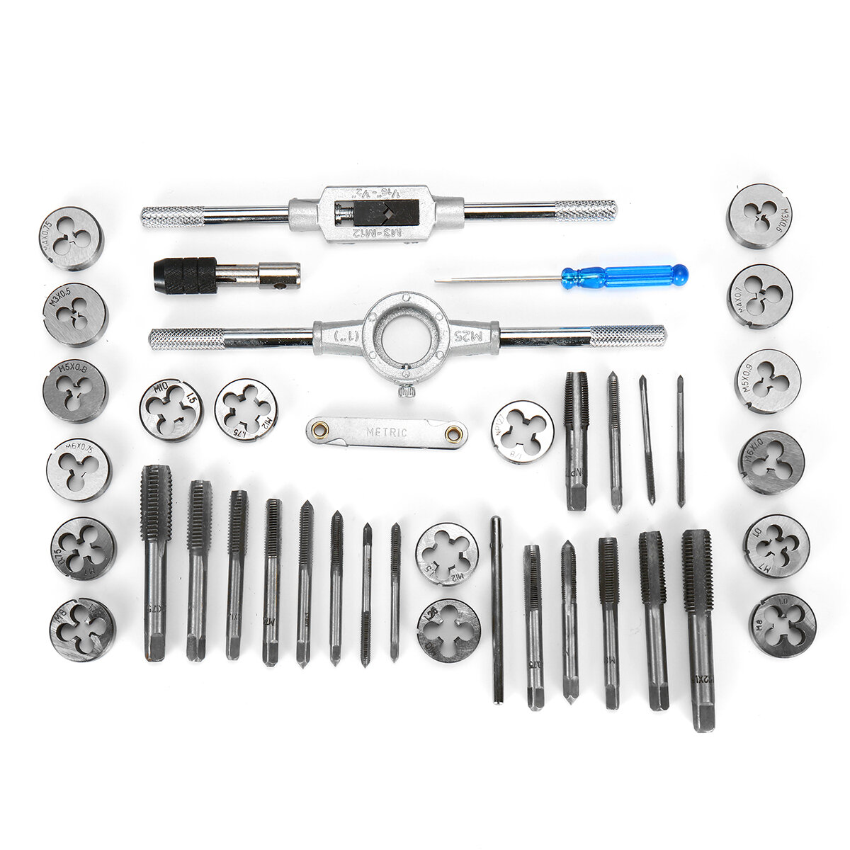 69PCS Leather Craft Tools Punch Kit Stitching Carving Working Sewing Groover - 3