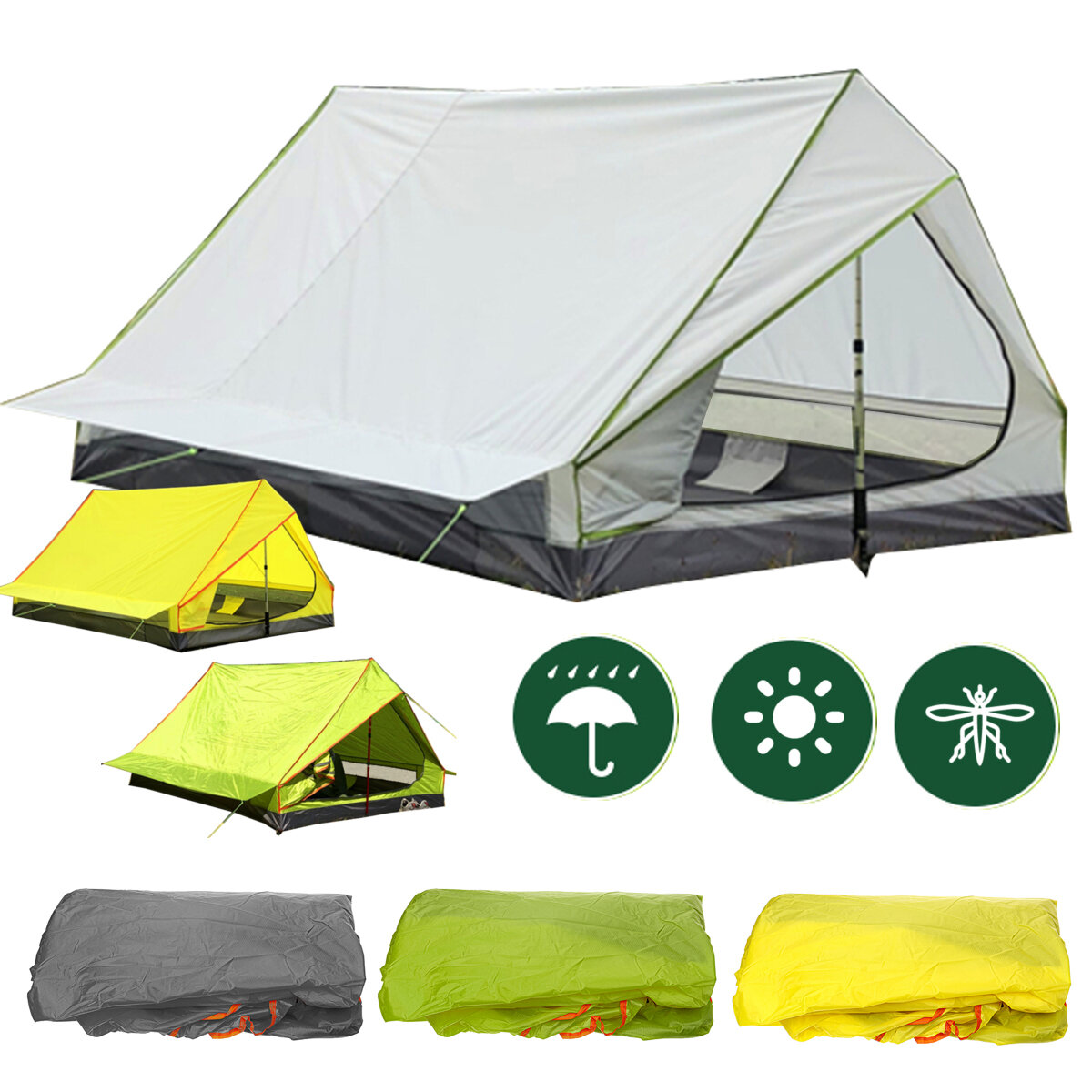 Multi-functional Waterproof Windproof Tent With Insect Net Ultralight Hammock Aerial Tent Portable Outdoor Camping 270x140cm - 1