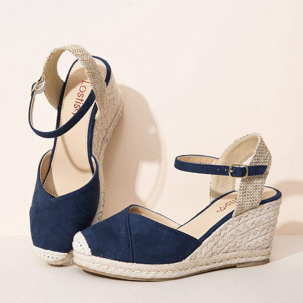LOSTISY Women Hollow Out Breathable Casual Comfy Backless Flats Sandals - 1