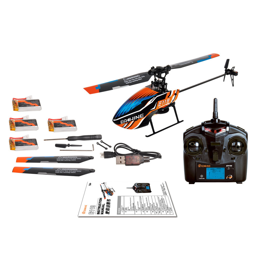 XK K124 2.4G 6CH Brushless EC145 3D6G System RC Helicopter 4PCS 3.7V 700mAh Lipo Battery Version Compatible With FUTAB-A S-FHSS - 10