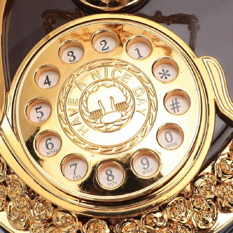 Retro Heart Shaped Telephone Model Music Box Home Ornament Decoration Music Box Toy - 4