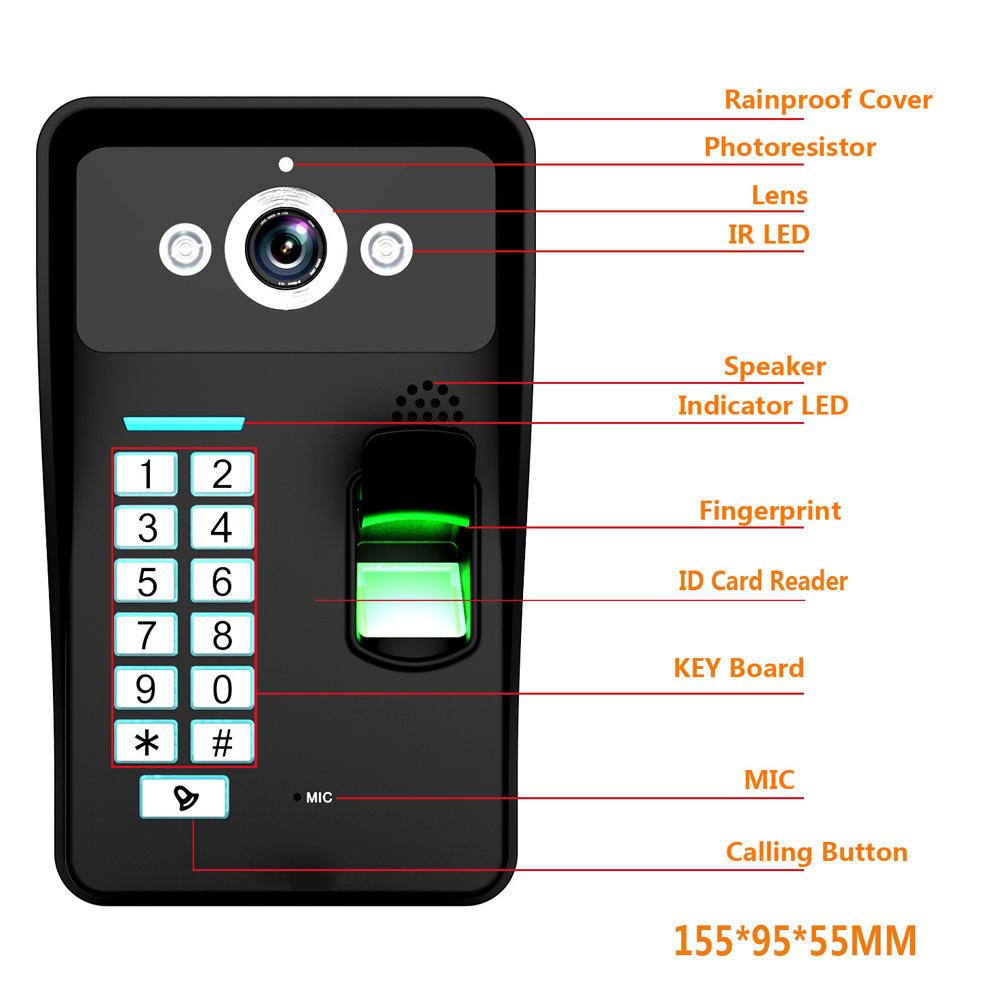 ANYTEK B30 Battery Powered WiFi Video Doorbell Waterproof Camera 720P Real Time Video Two Way Audio IR Camera - 7