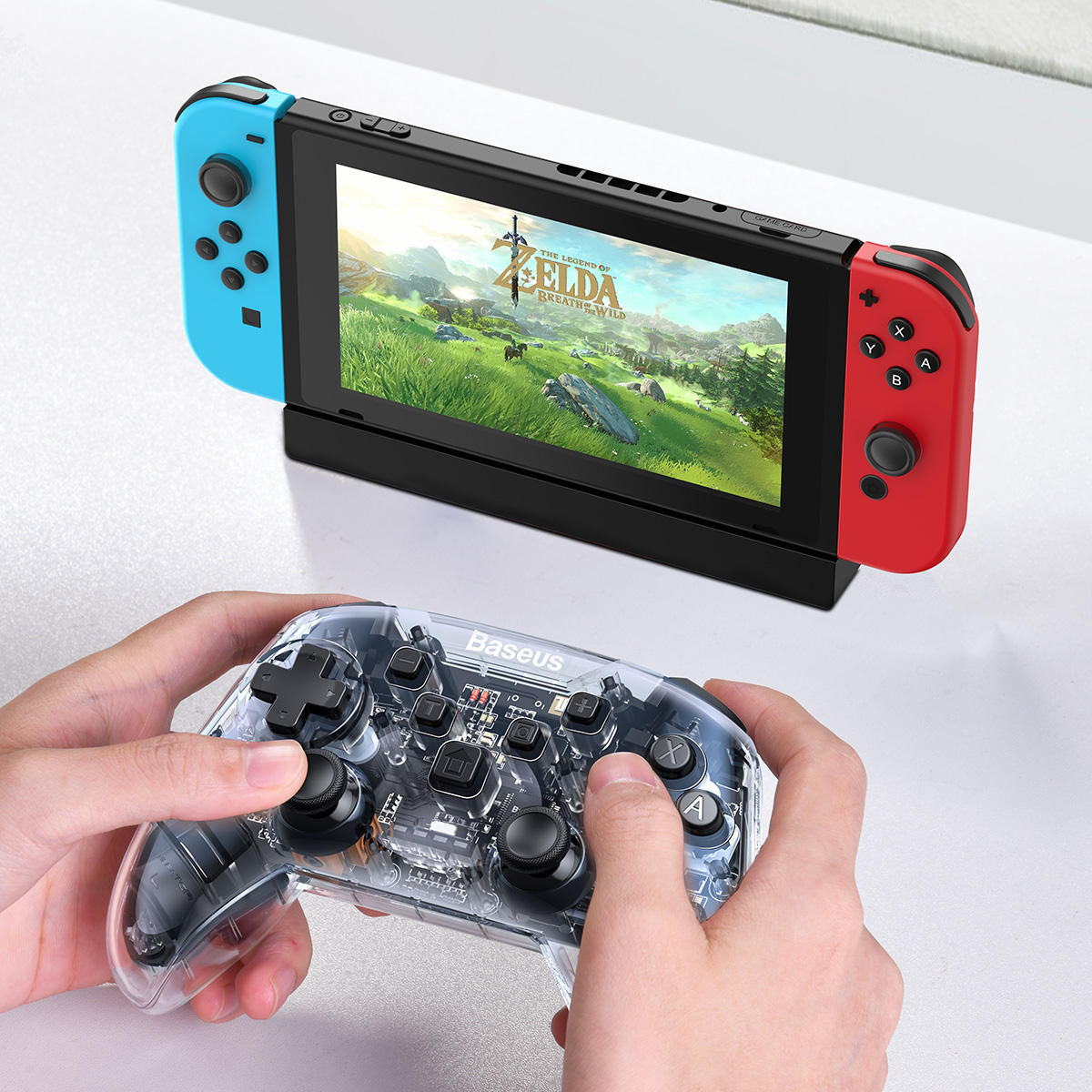Bakeey Bluetooth 4.0 Gaming Wired Wireless Smart Connection With Triangle Bracket Charging Gamepad For iPhone X XS HUAWEI P30 Mate20 Pro Oneplus 7 XIAOMI MI9 S10 S10+ - 7