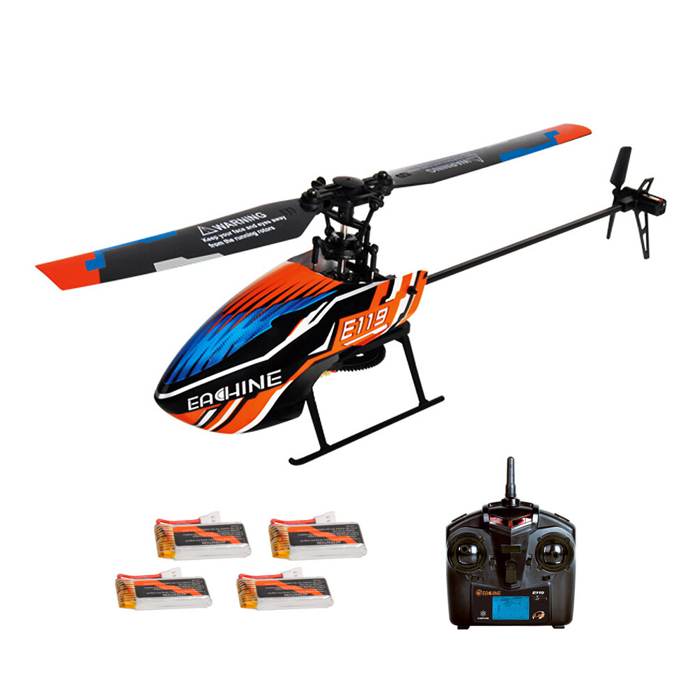 XK K124 2.4G 6CH Brushless EC145 3D6G System RC Helicopter 4PCS 3.7V 700mAh Lipo Battery Version Compatible With FUTAB-A S-FHSS - 2
