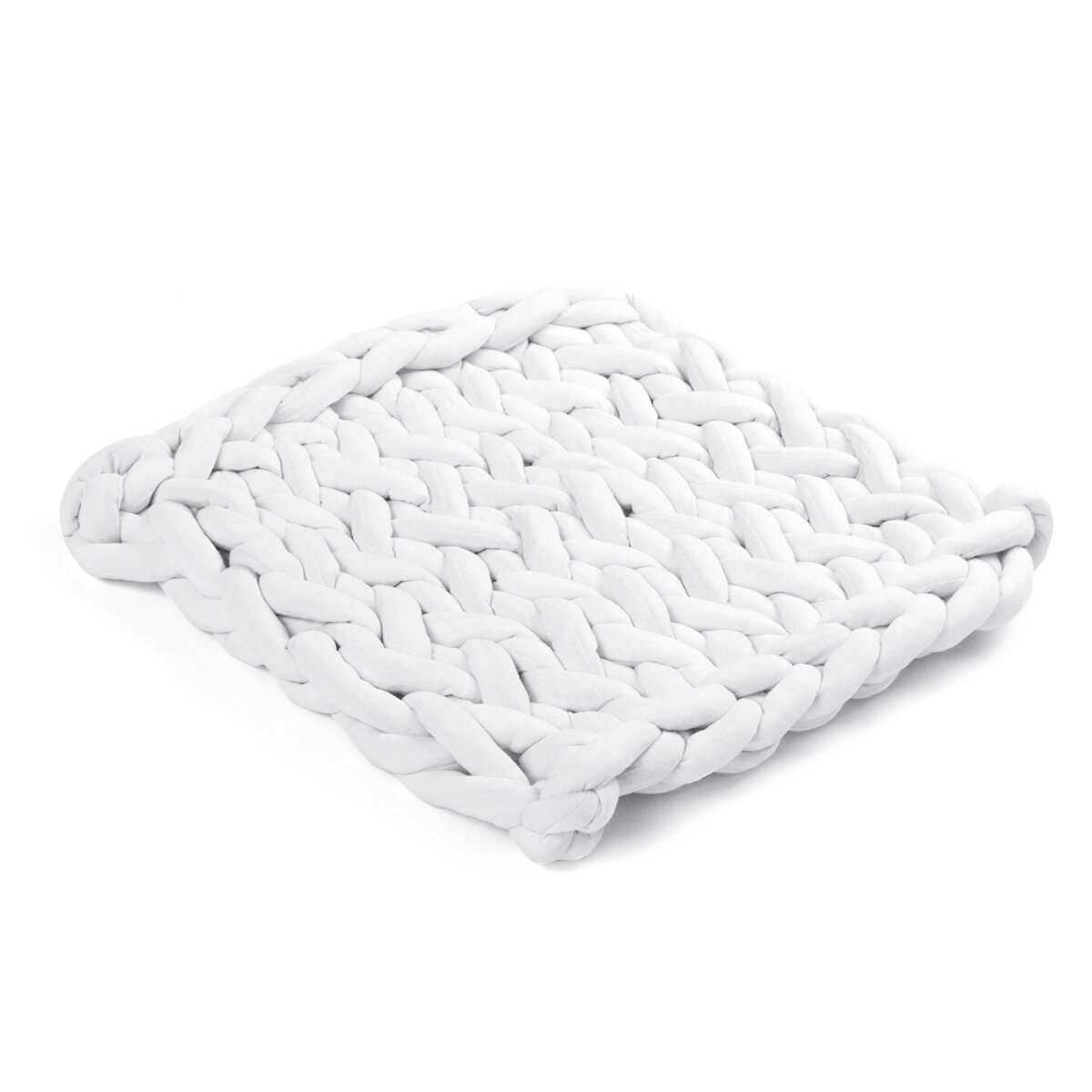 50 x 50cm Handmade Knitted Blanket Cotton Soft Washable Lint free Throw Multicolored Thick Thread Blankets - 8