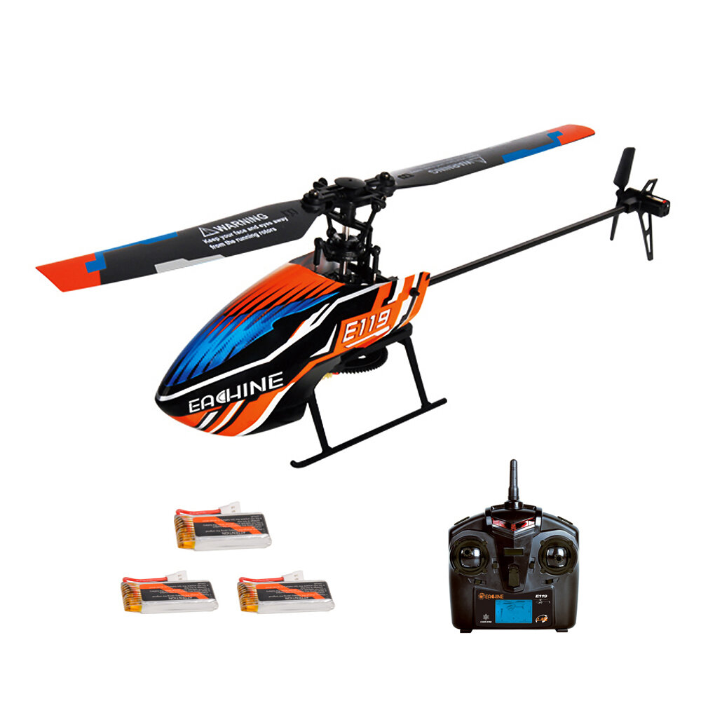 XK K124 2.4G 6CH Brushless EC145 3D6G System RC Helicopter 4PCS 3.7V 700mAh Lipo Battery Version Compatible With FUTAB-A S-FHSS - 1
