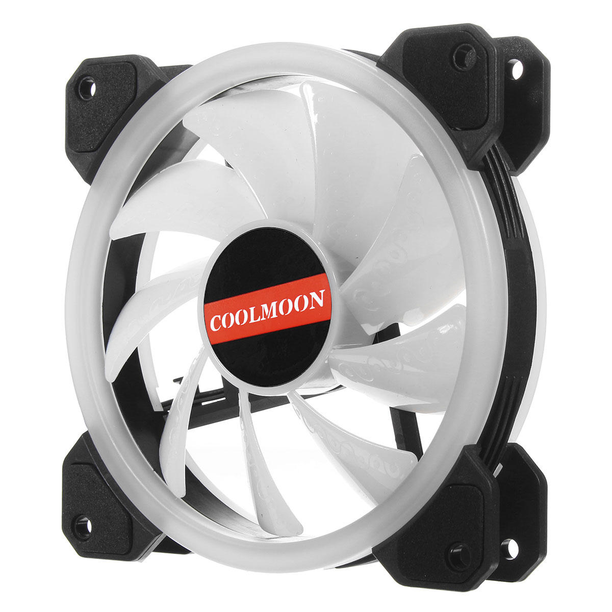 Coolmoon 6PCS 120mm RGB PC Fans 12 Monochromatic Light Adjustable CPU Cooling Fan With the Remote Control - 6