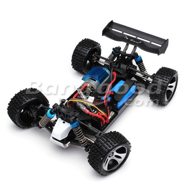 Eachine EAT04 1/12 2.4G 4WD Brush Rc Car Metal Body Shell Desert Off-road Truck RTR Toy Black - 7