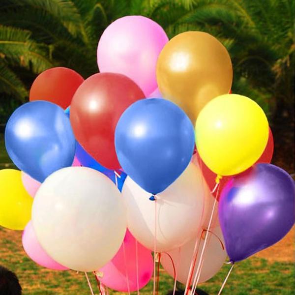 100 tiệc cưới Balloon Balloon Balloon Pearl Pearl Birthday Festival Pearl Balloon