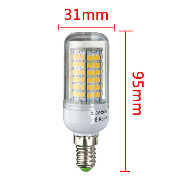 ARILUX® E27 E14 B22 GU10 G9 5W SMD5730 Constant Current Smart IC 89LEDs Corn Light Bulb AC220V - 8
