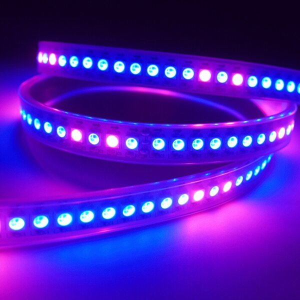 1M WS2812 IC SMD5050 Dream Color RGB Non-Waterproof LED Strip Light Individual Addressable DC5V - 6