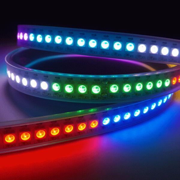 5050 RGB 4M 240LEDS WS2812B Waterproof IP65 LED Strip Light LED Individual Addressable DC 5V - 4
