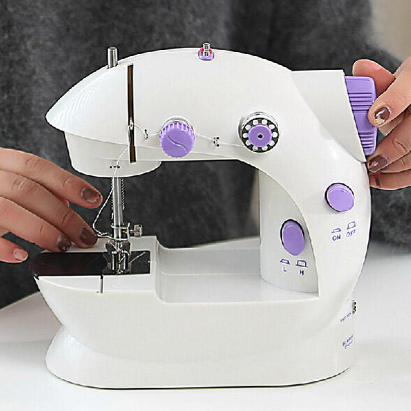 Portable Home Handwork Electric Mini Sewing Machine With Led Light - 3