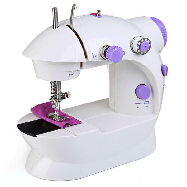 Portable Home Handwork Electric Mini Sewing Machine With Led Light - 1