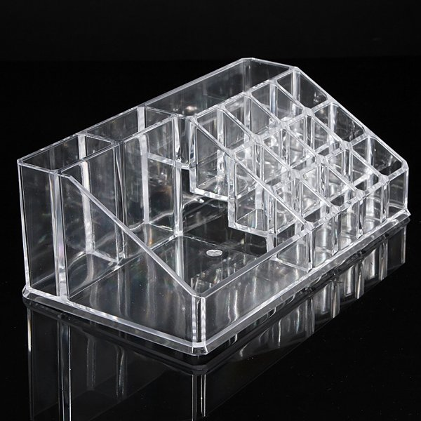 Double Layer Acrylic Clear Cosmetic Container Makeup Storage Organizer - 4