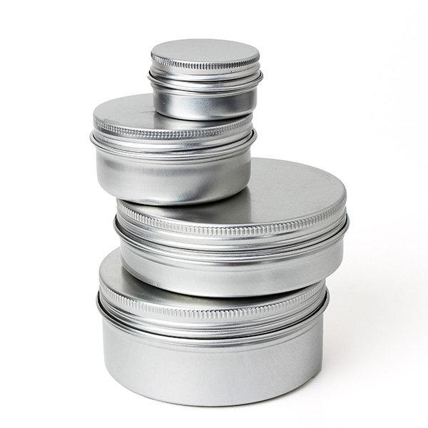 Tom återfyllningsbara flaskor Kosmetisk kruka burkbehållare 15ml / 50ml / 100ml / 150ml