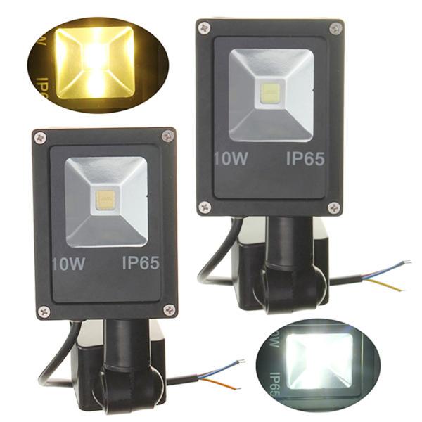 12V 10W PIR Motion Sensor LED Flood Light IP65 Warm/Cold White Light