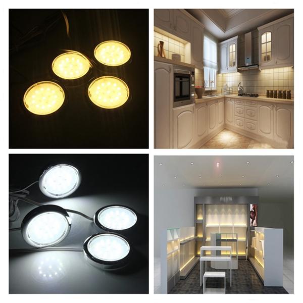 4p Led Home Kitchen Cabinet Shelf Night Light Energy Saving Lamp Bulbs