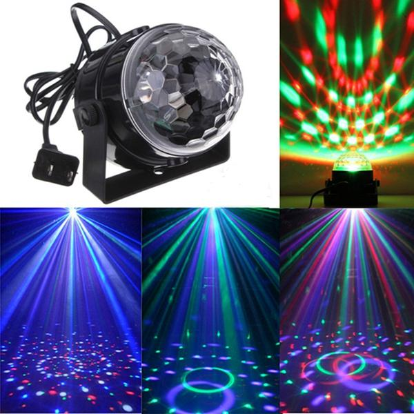 Mini RGB LED Party Disco Club DJ Licht Kristall Magic Ball Effekt Bühnenbeleuchtung - 1