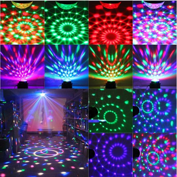 Mini RGB LED Party Disco Club DJ Licht Kristall Magic Ball Effekt Bühnenbeleuchtung - 7
