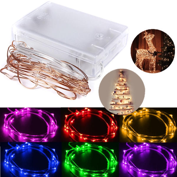 2M 20 LED Copper Wire Starry Lights String Fairy Battery Powered Decor